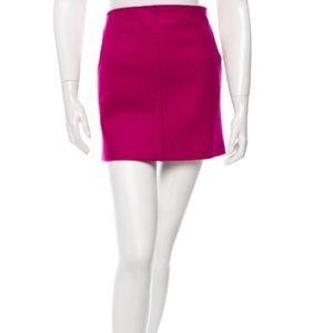 Diane Von Furstenberg Magenta Wool Mini Skirt
